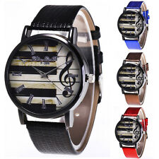 2017 Fashion Women's Men Piano Graffiti Pattem Quartz Leather Band Wrist Watches