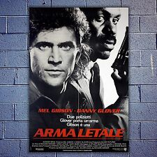 Original Poster Lethal Weapon, Arma Letale - Size: 100x140 CM - Mel Gibson