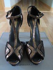 $295 BCBG MAXAZRIA Ma Florrie Bronze Moonlight Suede Heels Platforms Shoes 8.5