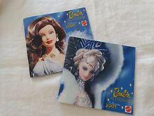 """Barbie catalogo piccolo originale """"Barbie da collezione"""" 2000 e 2001 Mattel"""