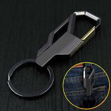 Car Keyring Keychain Ring Accessory Black 1x Fashion Men Alloy Metal Keyfob Gift