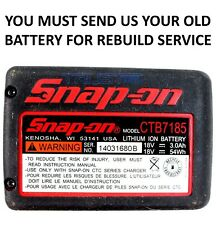 SNAP ON 18V LITHIUM BATTERY REBUILD SERVICE POWER TOOL REBUILD TO 6AH *REBUILD*