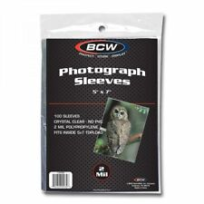 1 Case (5000) BCW 5x7 Photo Soft Poly Sleeves Acid Free Print Holder Archival