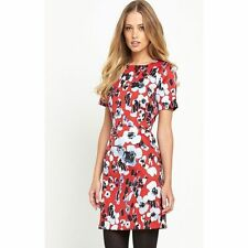 Crew Neck Business Floral Regular Size Dresses for Women