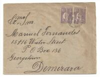 Portugal cover 1926 CERES stamps to DEMERARA cancelled on arrival British Guiana