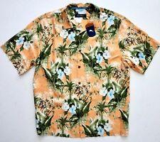 Tommy Bahama $148 Satsuma Corfu Jungle Tropical Print Silk Camp Shirt BT316643