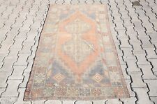 Small Runner Rugs Pink rug Kitchen Rug Turkish Rug Vintahe Rug Wool Carpets 2462