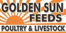 Golden Sun Feeds Old Feed Store Sign Remake Printed Banner Barn Garage Art 4 X 8