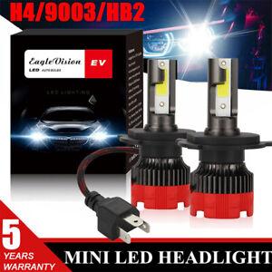 2X H4/9003 LED Headlight Bulb Kit 1400W 280000LM Hi-Low Car Motorcycle Headlight
