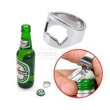 New Stainless Steel Finger Ring Bottle Opener Beer Bar Tool Silver