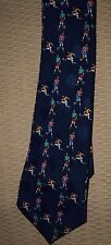Rudia Tie in Blue w/Soccer Players Design imported by Rudia Silk 100% Polyester