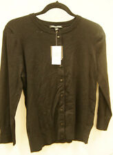 Women's Cable & Gauge Short Sleeve Top Black - Medium