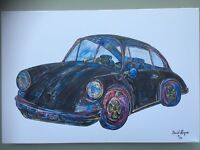 Porsche 911 T Canvas Print. Limited Edition by David Harper