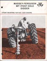 FERGUSON POST HOLE BORER BROCHURE  --------------- ORIGINAL SALES DIGGER LEAFLET