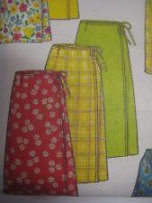 New Look 6637 LONG or SHORT SIDE TIE WRAP SKIRT Sewing Pattern Women Sz 8-18