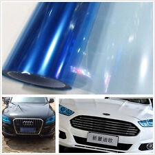 100cm x 30cm Bright blue Auto Headlight Tint Vinyl Wrap Film Sheet Cover Sticker