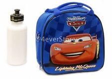 Disney Blue Cars Mcqueen Lunch Bag w/ Shoulder Strap & Water Bottle