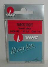 Hameçons VMC N°22 Forgé droit bronzé à palette par 10
