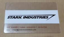 STARK INDUSTRIES Business Card AVENGERS Promo San Diego Comic Con SDCC Kay Baker
