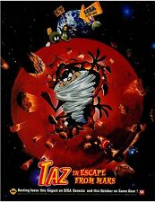 1994  TAZ  ESCAPE FROM MARS Sega Genesis & Game Gear video game print ad page