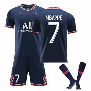 Nr. 7 Mbappé  Fußballuniform  Anzug 21/22 Paris Nr. 10 Neymar Jersey Trikot~~~~~