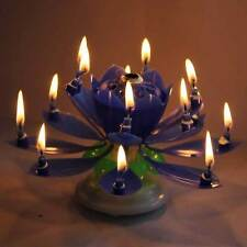 Musical Lotus Flower Double-deck Blossom Birthday Candle Party Decoration UK