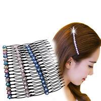 Women Girls Rhinestone Hair Comb Teeth Hair Comb Pin Clip Combs*Hair JewelrFBJH