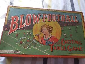 Vintage 1950's blow football game complete harlesdon series