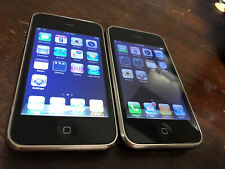 Two Apple iPhone 3G - 8GB - Black (Unlocked) A1241 (GSM)