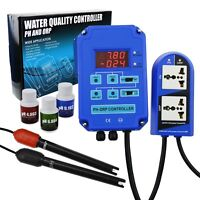 2-in-1 Digital PH ORP Controller BNC Electrodes mV Redox CO2 Ozone 110V or 220V