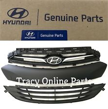 Front Grille Assembly 2013-2016 Genesis Coupe New OEM Hyundai Set of 3 Parts