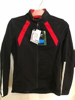 LADIES SLIM FIT WINTER CYCLING JACKET..BLACK AND RED..SIZE 12..BRAND NEW