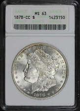 1878-CC Morgan Dollar ANACS MS-63 First Generation Holder -178962
