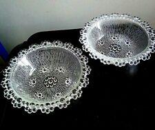 Vintage Italian Barocco Dessert Fruit Dishes Bowls Bubble Design x 2 VGC