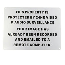 3 X Warning Sign 24hr Video Audio Surveillance Security 225x300mm Metal 16003038