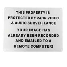 WARNING SIGN 24HR Video Audio Surveillance Security 225x300mm MetaL CCTV Safety