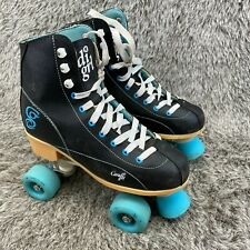 Candi Girl Womens Roller Derby Skates Black Turquoise Size 8