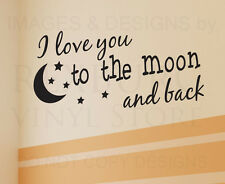 Wall Decal Sticker Quote Vinyl Art Removable I Love You Baby Boy Girl Room K97