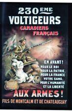 WW1 - Photo affiche - 230ème Voltigeurs Canadiens Français
