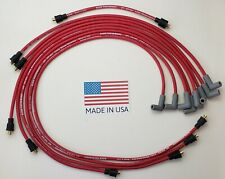 CHEVY 327 350 SMALL BLOCK  8.5mm RED SPARK PLUG WIRES under exhaust USA POINTS