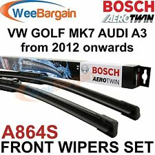 VW GOLF MK7 & AUDI A3 2012- Genuine BOSCH A864S Aerotwin Front Wiper Blades Set