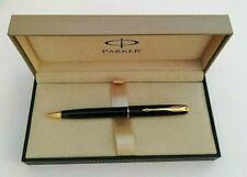 Parker Sonnet Laque Black Gold Trim Ball Pen