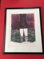 Fritz Scholder: WADING IN THE POOL #2 Original Unique Signed Titled Monotype