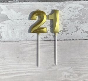 Gold&Silver Number 0-9 Candles Birthday Party Cake Candle Topper Cake Decoration