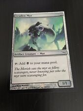 MTG MAGIC MIRRODIN LEADEN MYR (ENGLISH MYR DE PLOMB) NM FOIL