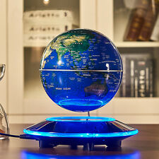 Magnetic Levitating Floating Rotate LED Globe Map Home Desk Top Brithday Gift