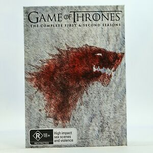 Game Of Thrones Complete Season 1 2 DVD Slipcover Good Condition