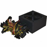 1800W ATX Modular Mining PC Power Supply 6GPU Eth Rig Ethereum Coin Miner 95Gold