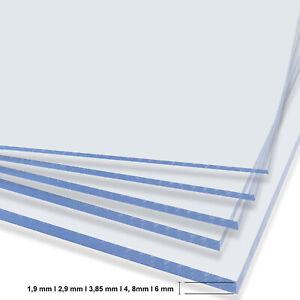Kunststoffplatte - transparent - Polystyrol Platten Bastelplatte für Modellbau