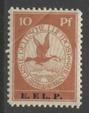 1912 Germany  10 Pfennig Air Mail issue with imprint  mint**, signed,  € 2,200